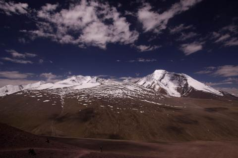 View towards Kang Yatse from the Gongmaru La (5100 m, 16,700 ft)