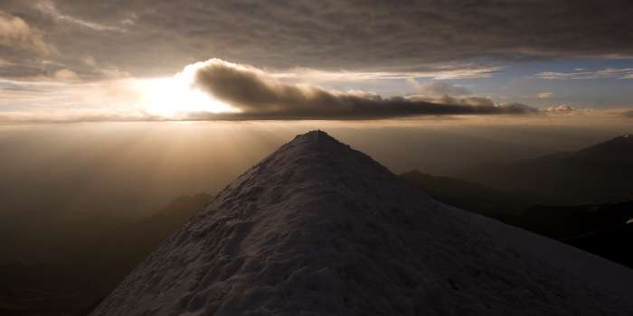 Sunrise on top of Stok Kangri in Ladakh