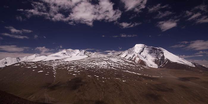 View towards Kang Yatse from the Gongmaru La (5100 m, 16,700 ft)